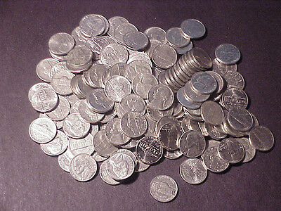 Jefferson nickels-nice starter set of 156 circulated coins (three silver)