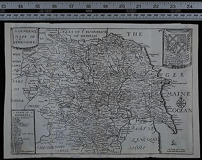 1716 Antique County Map - Richard Blome  - Yorkshire
