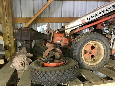 Gravely Walk Behind Tiller with Spare Wheels, Weights, Etc. forParts/ Repair