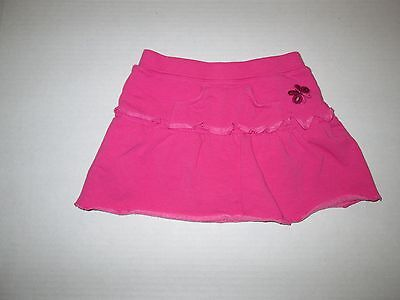 Guess Baby Pink Butterfly Sweat Skirt Girls 24 Months