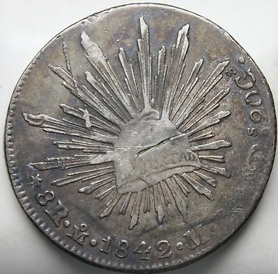 1842 Mexico 8 Reales * Mo-ML * Original Coin * FREE SHIPPING