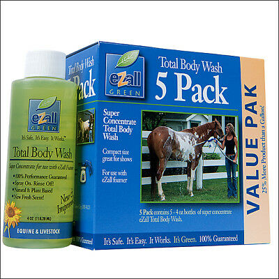 Weaver Leather Ezall Super Concentrate Horse Body Wash Five Pack 4 Oz. Bottles
