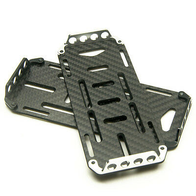 Carbon Fiber Batterie Mounting Plate Tablett for 1/10 RC Crawler car Axial SCX10
