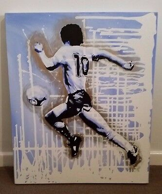 DIEGO MARADONA Pop Art Style Canvas Painting Artwork (O'Connor Artist Signed)