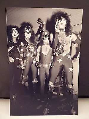 Kiss 1976 Sweden Live Backstage Candid Band 8x12 Photo #5 From Original Negative
