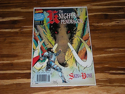 Marvel THE KNIGHTS OF PENDRAGON Comic Book Skin & Bone w/ FREE POSTER - Issue #2