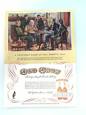Old Crow Whiskey Magazine Ad - A Friendly Game