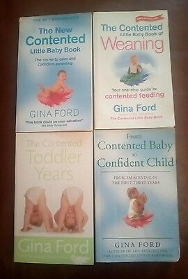 Gina Ford contented baby, weaning, toddler years & confident child 4 books!