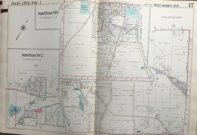 1950 West Chester University Pa W Goshen Twp Hicksite Friends Cemetery Atlas Map
