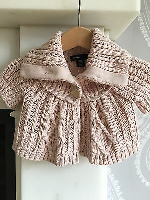 BNWOT Baby Girls Pale Pink Cardigan from BabyGap, age 0-3 Months