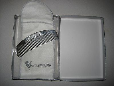 Krysaliis Sterling Silver Baby Comb, ABC