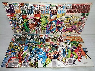 Official Handbook of the Marvel Universe Deluxe 1-20 (miss.#3) SET! (b 17846)