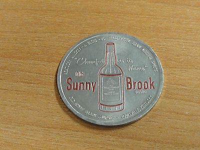 Old Sunny Brook Whiskey Spinner Token 1951 Phils Home Schedule