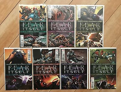 Marvel FEAR ITSELF Lot FULL RUN - COMPLETE - Issues #1-7 Avengers Iron Man Thor