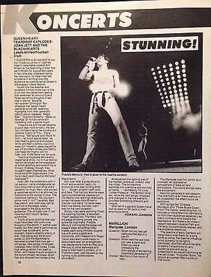 Queen / Aldo Nova - 2 Sided Page From Vintage 1982 Kerrang! Magazine
