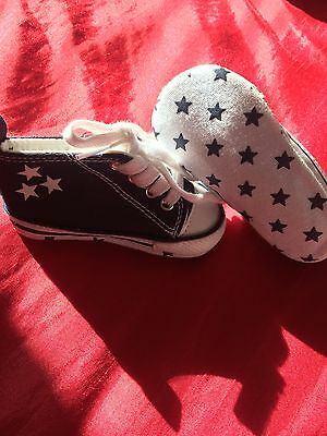 NEXT Baby Boy 3-6 Months (size 1) Converse Style Pram shoes