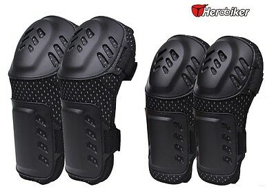Motorcycle Elbow Knee Pads Armour Guard Body Brace Support Protective Gear Full