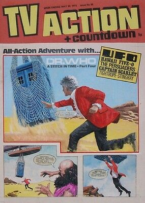 Doctor Who Original Art by Gerry Haycock TV Action + Countdown #66 - Jon Pertwee