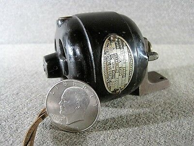 G E Miniature 1/200th HP Antique Electric A/C Motor with Mounting Stand