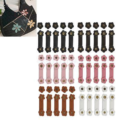 5 Sets Leather Buckles Purse Hasp for Handbag Kindle Cellphone Case DIY Flower