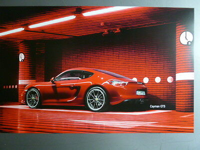 2015 Porsche Cayman GTS Showroom Advertising Sales Poster RARE!! Awesome L@@K