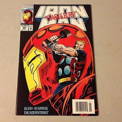 IRON MAN #304 Marvel 1st HULKBUSTER ARMOR HIGH GRADE NEWSSTAND w CARDS #A