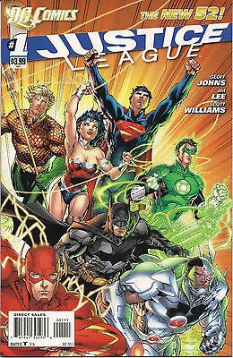 JUSTICE LEAGUE #1 DC 2011 New 52 Comics High Grade 1st Print Near Mint+ NM+