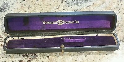 Vintage Waterman's Ideal Fountain Pen Case Box With Clip