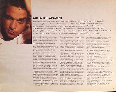 Robbie Williams - Very Rare 1 Page Article From Brit Awards 1999 Magazine
