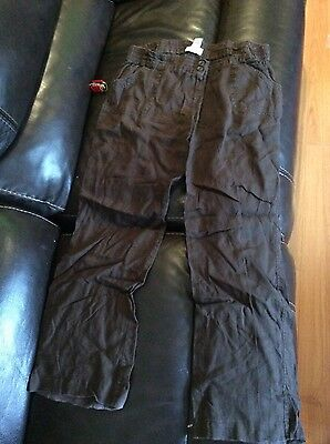 Women's Liz Lange Brown Maternity Pants Size 10