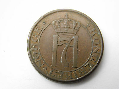 1947 Norway 2 0re coin foreign (1081)