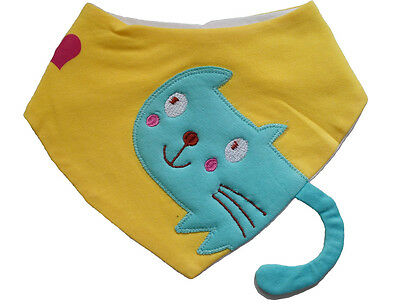 cute baby bib infant toddler bibs burp cloths triangle bluecat fit for baby 0-2T
