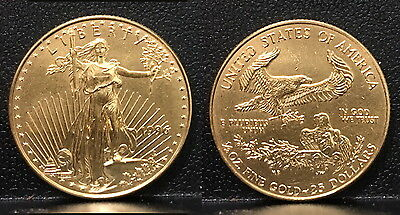 1996 Usa  American  Lustrous  $25 Eagle In A Hard Case--A Raw Blazer Low Mintage