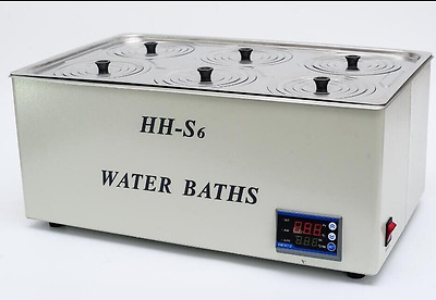 1800W Digital Thermostatic Water Bath 6 Hole 500*300*150mm HH-S6 Fast Shipping
