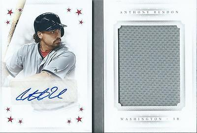 Anthony Rendon 2016 National Treasures Baseball Autograph Jersey Booklet /25