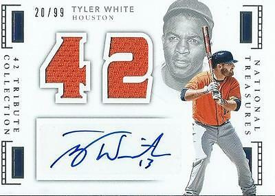 Tyler White 2016 National Treasures Baseball Auto Jersey Card /99