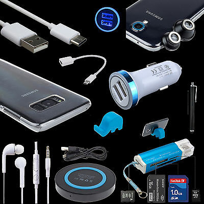 10 Bundles QI Car Charger Cable Lens Hard Case Reader for Samsung Galaxy S8 Plus