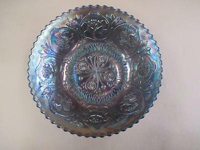 Carnival glass, dragon and lotus bowl, footed, vintage
