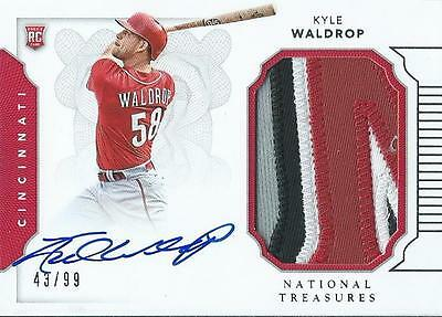 Kyle Waldrop 2016 National Treasures Baseball Autograph RPA Patch Card /99