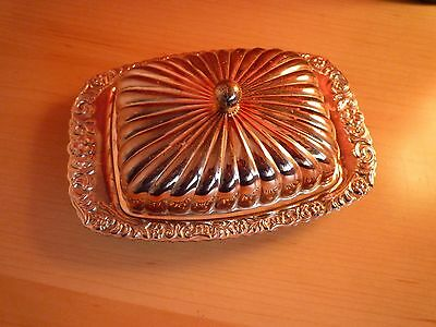 Vintage Silver Plated Butter Dish - Good Condition