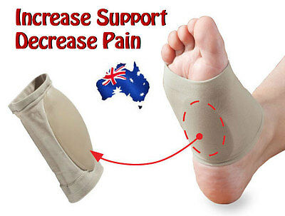 GEL Plantar Fasciitis ARCH Support Sleeve Shoe Cushion Insert Foot Orthotic Pad