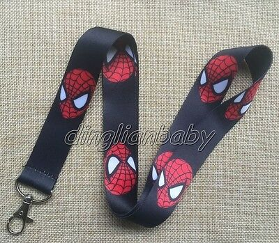 Lot Cartoon Spider-Man Lanyard Key Card ID Chain Neck Strap Party Gifts M334