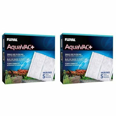 Fluval AquaVAC+ Replacement Fine Filter Pad (2 packs of 5) BUNDLE *GENUINE*