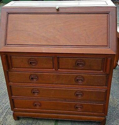 vintage solid wood writing bureau/chester drawer