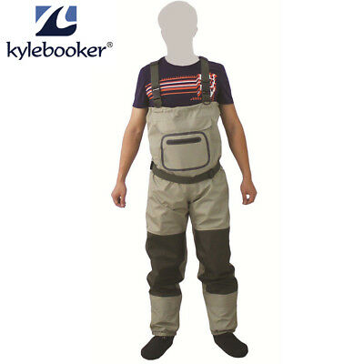 Fly Fishing Affordable Breathable Waterproof Chest Wader Stocking Foot Waders