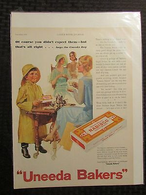 "1930 UNEEDA BAKERS Magazine Ad LOT of 5 FN 6.0 10x14"" Fig Newtons Nabisco"