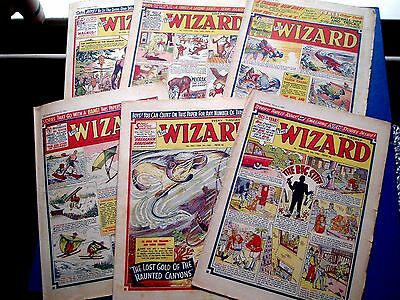 THE WIZARD COMIC x 6 ISSUES  1959 - 1961  ALL FAIR OR BETTER