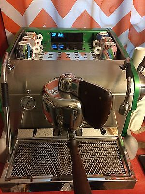 Slayer Espresso Machine 1 group Green And  Silver