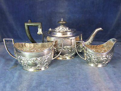 Sheffield Silver Plate Tea Service - Early 20th C [3361]