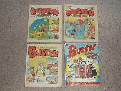 3 Buster Comics from 1982 1983 plus 1989 Holiday Summer Special Fair